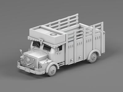 Indian Truck Clay Render vehicles design illustration web toy truck maxonc4d india cinema 4d behance animation 3d animation 3d