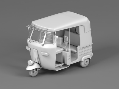 Auto Clay render icon toy india modelling maxonc4d 3d vehicles auto rickshaw design cinema 4d behance animation 3d animation