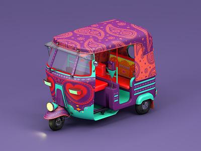 Indian Auto icon toy animation cinema 4d illustration auto modelling vehicles maxonc4d india design behance 3d animation 3d