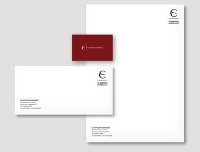 SC Law Firm modena lawfirm minimal typography design italy branding logo