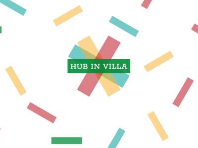 Coworking Logo | HUB in Villa gometric branding minimal vector coworking graphic  design design logo