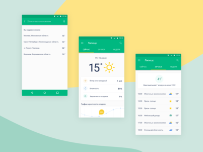 android_app_weather_concept