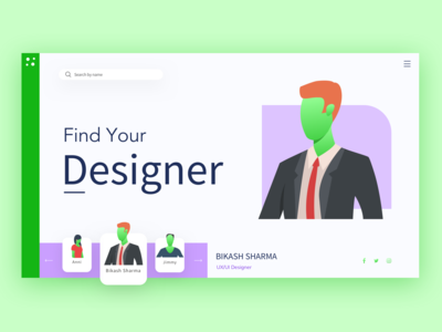 Find your designer - mockup