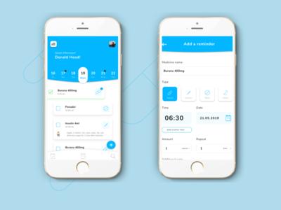 Medicine Reminder App concept