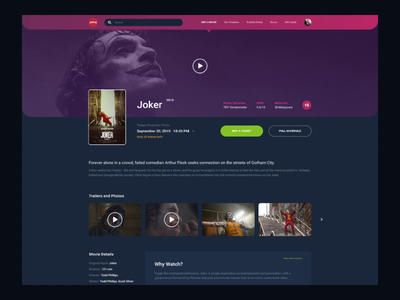 Design Challenge #1 - Cinema Movie Page