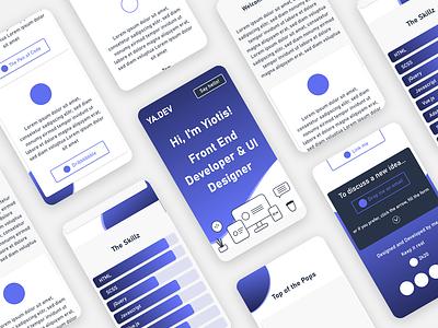Mobile single page portfolio draft mobile portfolio site portfolio adobexd concept ux ui flat design