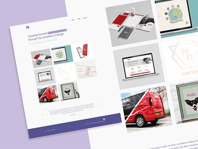 fs.designs draft website portfolio adobexd web branding ux ui flat design
