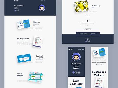 Online portfolio revamp logo website portfolio adobexd web branding ux ui flat design