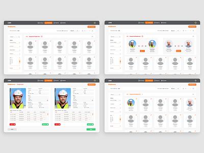 Employee duplicate system concept concept desktop web adobexd ux ui flat design