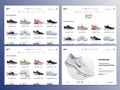 Nike Womens Shoes Web website web ux ui flat design branding
