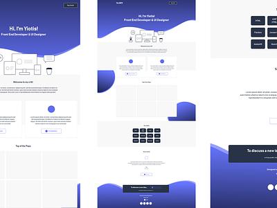 single page portfolio draft portfolio web ux adobexd concept ui flat design
