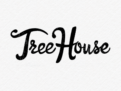 Tree House Logo lettering typography illustration logo branding