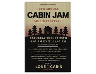 Cabin Jam Festival Poster