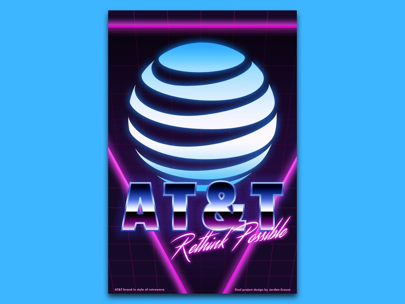 AT&T Poster in Retrowave Style by Jordan Crouse on Dribbble