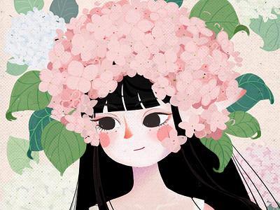绣球娘 illustration girl