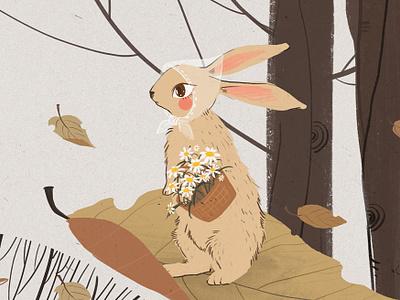 rabbit fall illustration
