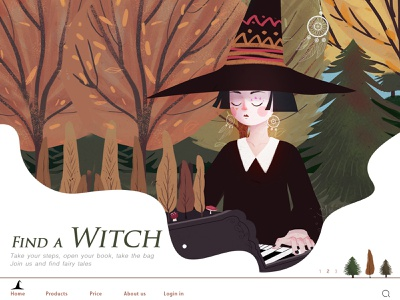 find a witch magical fall illustration girl