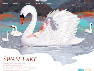 swan Lake illustration girl