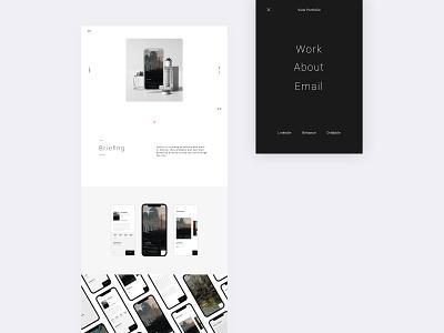 Digital Portfolio — Work flat ui typography ux designinspirations design web minimal