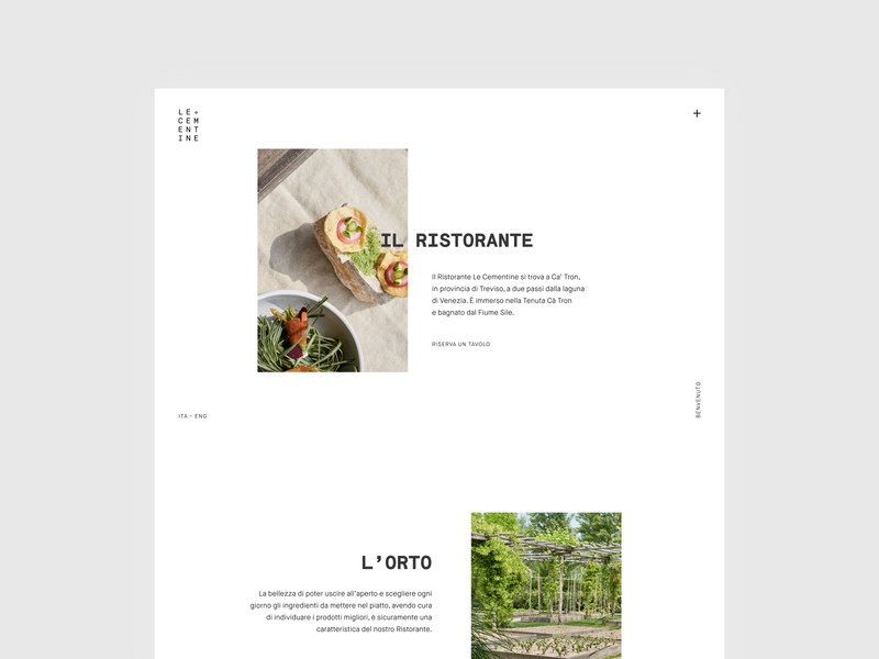 Le Cementine photography restaurant branding ux design ui logo typography designinspirations web minimal