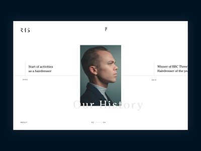 RHS - Timeline follow me typography ux web designinspirations ui minimal