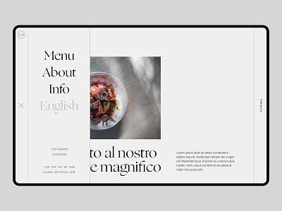 AL4 Pizzeria - Menu minimal ux design ux ui designinspirations typography