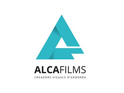 Logo audiovisual production company design visuals flat design logo