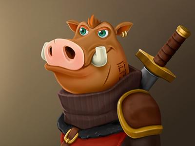 Character Design pig casual animal cartoon mobile game 2d art game illustration character design concept art