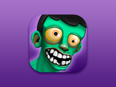 iOS Icon - Fast Zombies Game character design interface ui artist game artist 2d artist mobile casual arcade ios game fast zombies