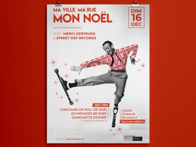 Christmas event poster photo design france event noel christmas affiche poster