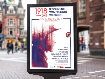 Centenary of the 1918 Armistice exposition film 1918 war event poster affiche