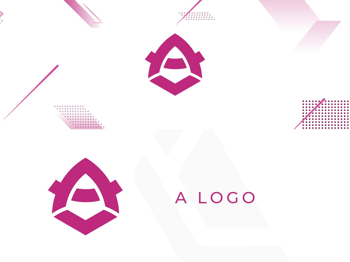 A Logo pink logo a