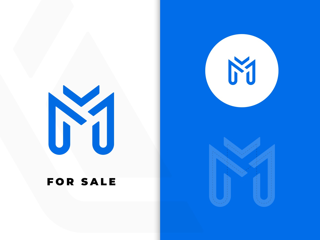 M Logo m logo blue for sale