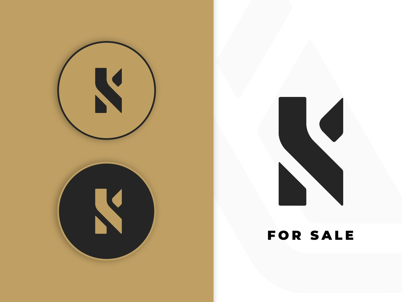 K Logo gold k logo black