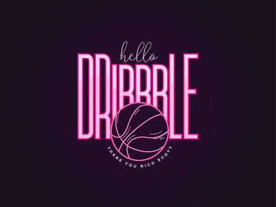 Hello Dribbble Logo Design