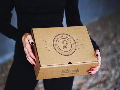 Flying Gift box Logo Design