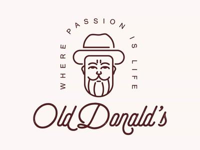 Minimaist Old Man Logo Design