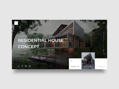 Modern Architecture - Web concept