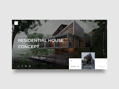 Modern Architecture - Web concept arounda sketch desktop interface ui architecht concept design web