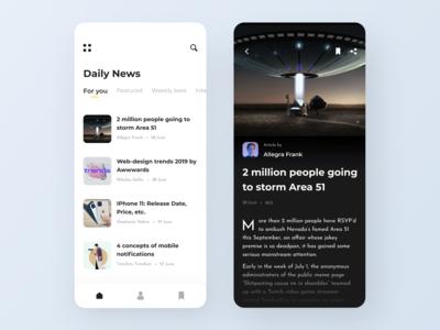 Area 51 - News app concept