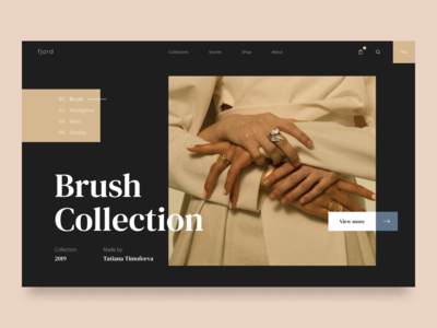 Brush Collection - landing page concept
