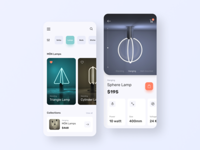 MÖN Shop - Interface concept