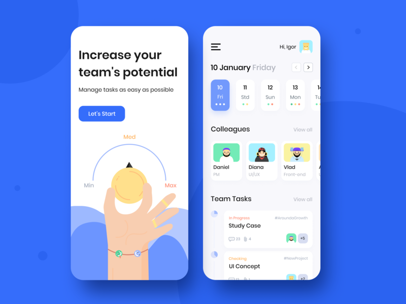 Team Schedule - Mobile app concept sketch typography grid cards pallete app application figma illustration color clean design ux ui interface mobile schedule concept arounda