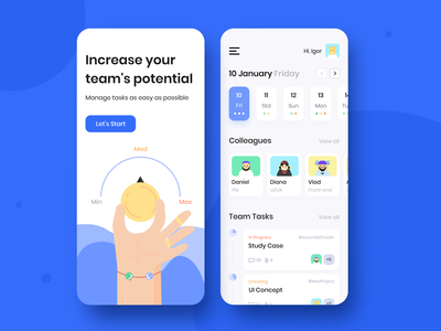 Team Schedule - Mobile app concept sketch typography grid cards pallete app application figma illustration color clean design ux ui interface mobile schedule concept arounda