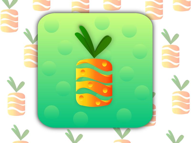 Pineapple google background design ux icon branding brand photoshop illustrator logodesigner logo illustration logodesigns graphic designing design designers ai vector creative design photoshop illustrator