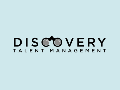 Discovery Talent Management discovery logomark icon typography branding design corporate branding logo