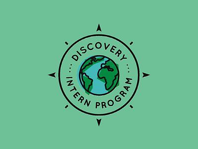 Discovery Intern Program mono line corporate branding discovery illustration logomark design icon typography branding redesign rebrand logo