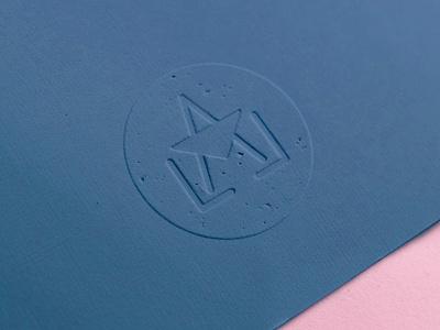 Lala Letter Logomark Emboss logo icon design branding stamp emobossed logomark emboss