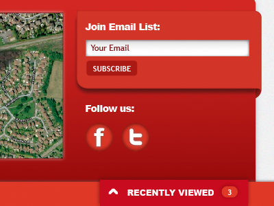 Footer Sign-Up & Social red footer website ui social sign up email map gradient