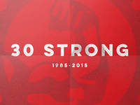 "Streng ""30 Strong"" Poster"
